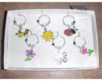Signs of Spring wine charms