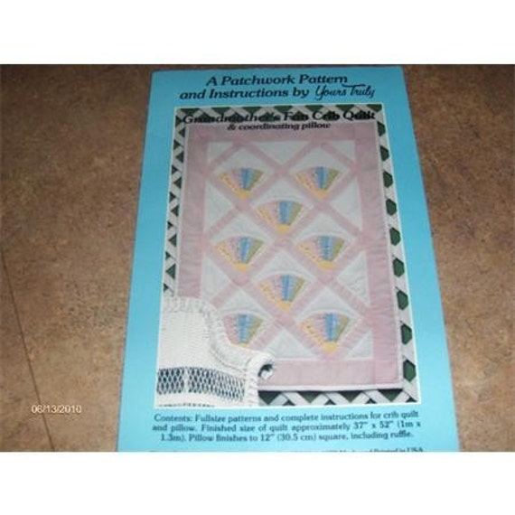 Quilt Pattern For Grandmother S Fan : Grandmothers Fan Crib Quilt pattern