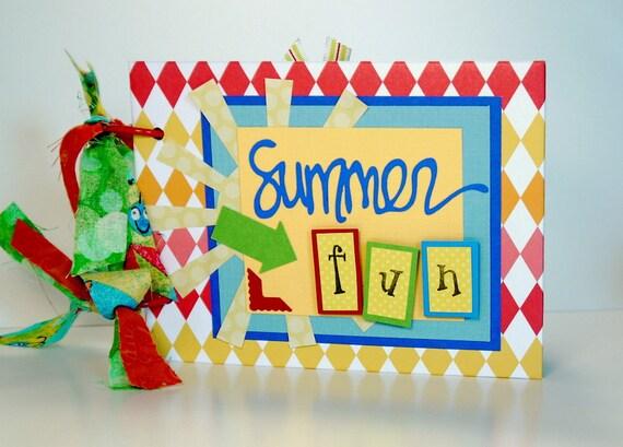 Scrapbook Mini Album, Summer Fun, Vacation, Premade