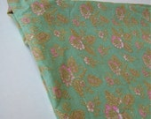 Over Two Yards of Pretty Flower Print Cotton