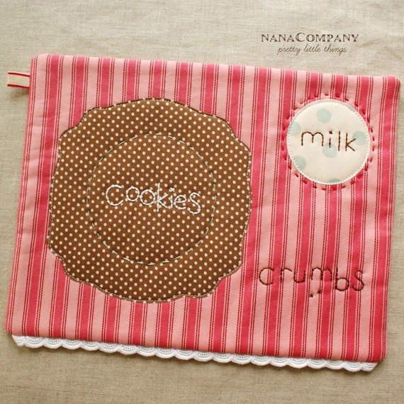 cookies and milk, snack mat or placemat