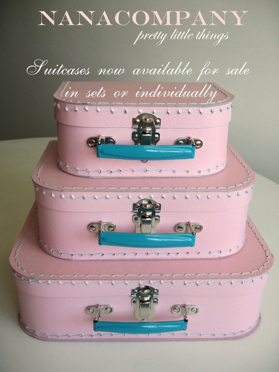 pink vintage style suitcases