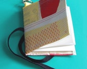 Recycled Journal, notepad, sketchbook keychain w\/ fused plastic bags cover