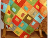 Dream in Color Lap/Throw Quilt FREE SHIPPING within the USA, discounted international shipping has been applied