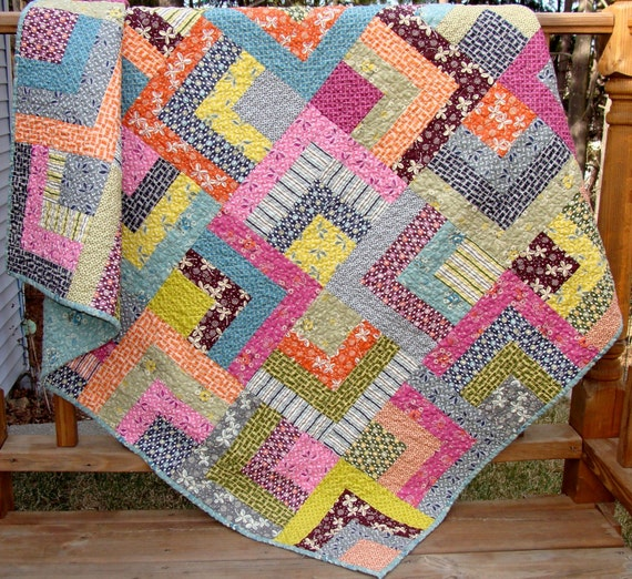 Hope Valley Scrappy Trails Lap Quilt