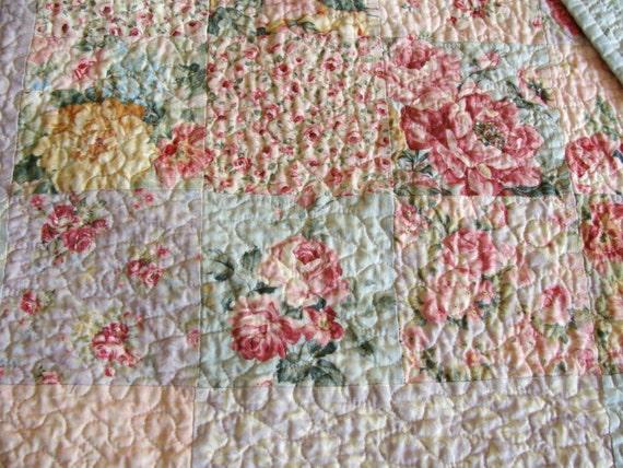 English Cottage Rose Garden Patchwork Quilt By Carlenewestberg