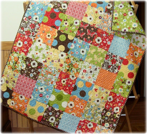 SALE Freebird Patchwork Baby Quilt