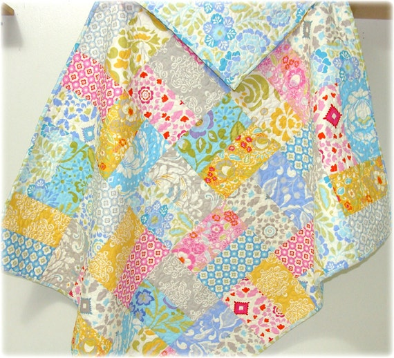 SALE Baby Girl Quilt with Taza fabrics