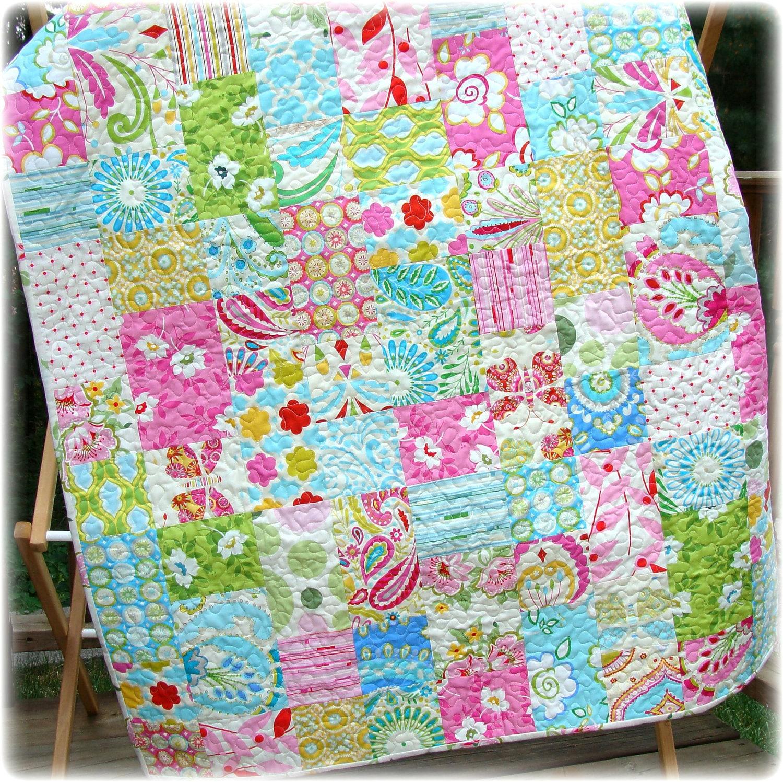Little lady jane baby quilt for Dena designs kumari garden