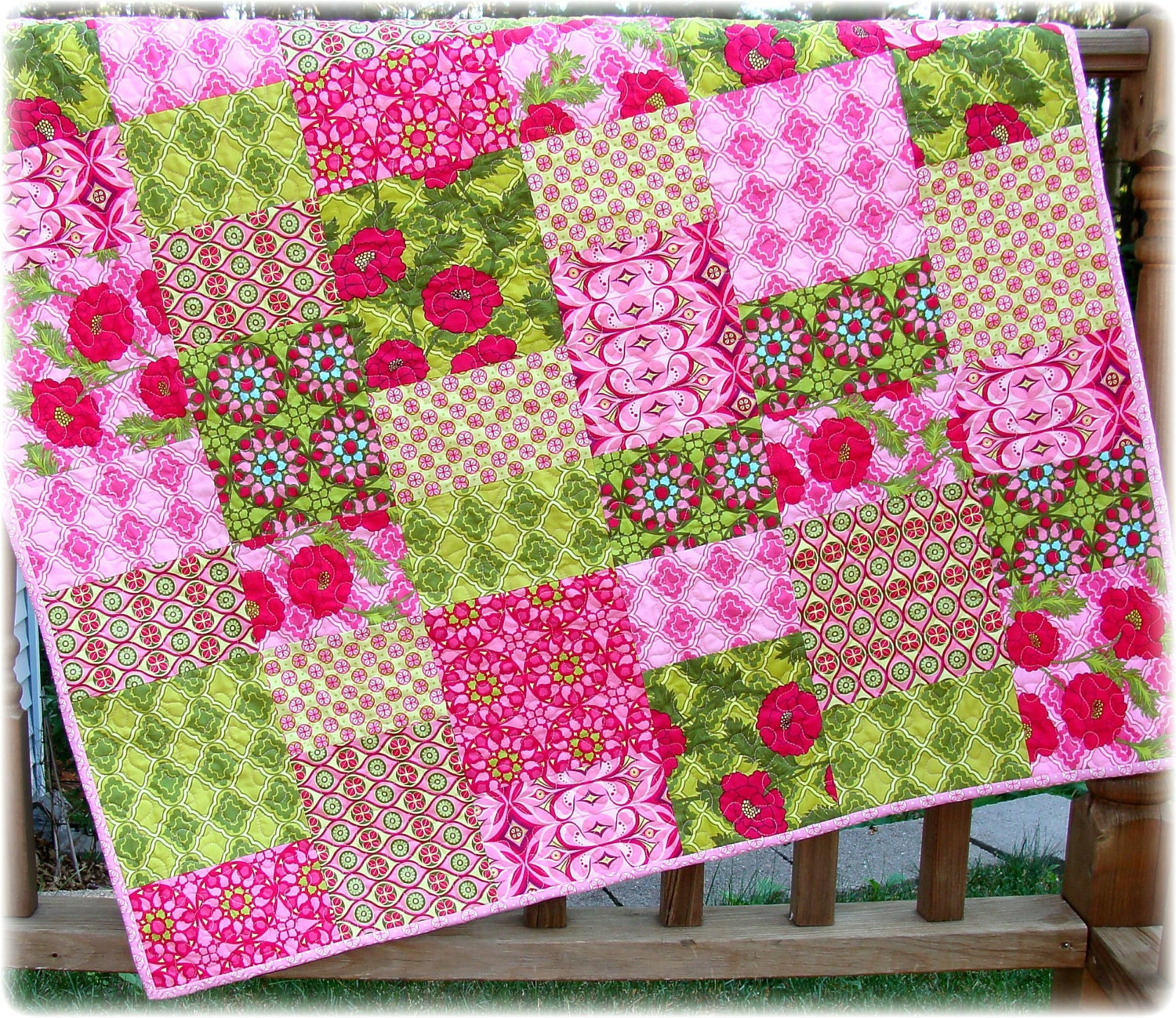 Sale baby girl quilt with mezzanine fabrics for Baby girl fabric