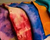 Tie Dye 100% Wool Felt Handmade from Vintage Wool Fabric Waldorf
