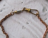 RESERVED for Donna B 3 Altered Brass Chain Necklace Vintage Watch Fob jewelry design