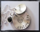 Personalized Jewelry - Hand Stamped Necklace - Capture Life