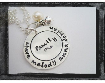 Personalized Family Necklace - Mother Grandmother Sister Best Friend Jewelry