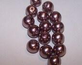 DD- Purple 10mm Glass Pearls