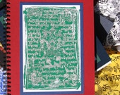 Tibetan Prayer Flag Journal Book Green with Red Cover