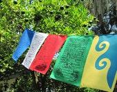 Karmapa Dream Flag with Windhorse Prayer Flags / set of 9 flags