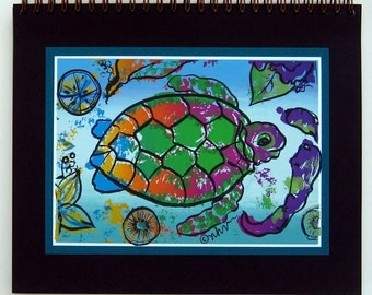 Sea Turtle Journal / silkscreened and blank inside