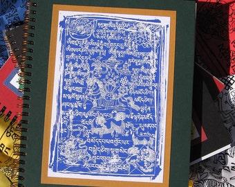 Blue Tibetan Prayer Flag Journal Book