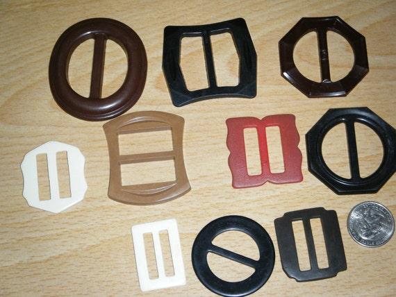 vintage plastic buckles.