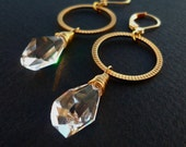 Stunning Earrings -- Clear Crystal