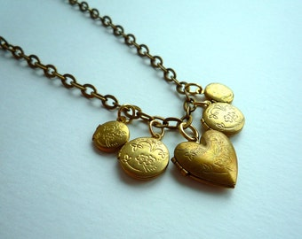 Trinket Necklace -- Lockets