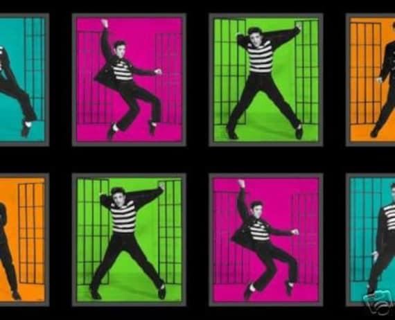 Elvis Presley Fabric Jailhouse Rock Panels On Sale Today