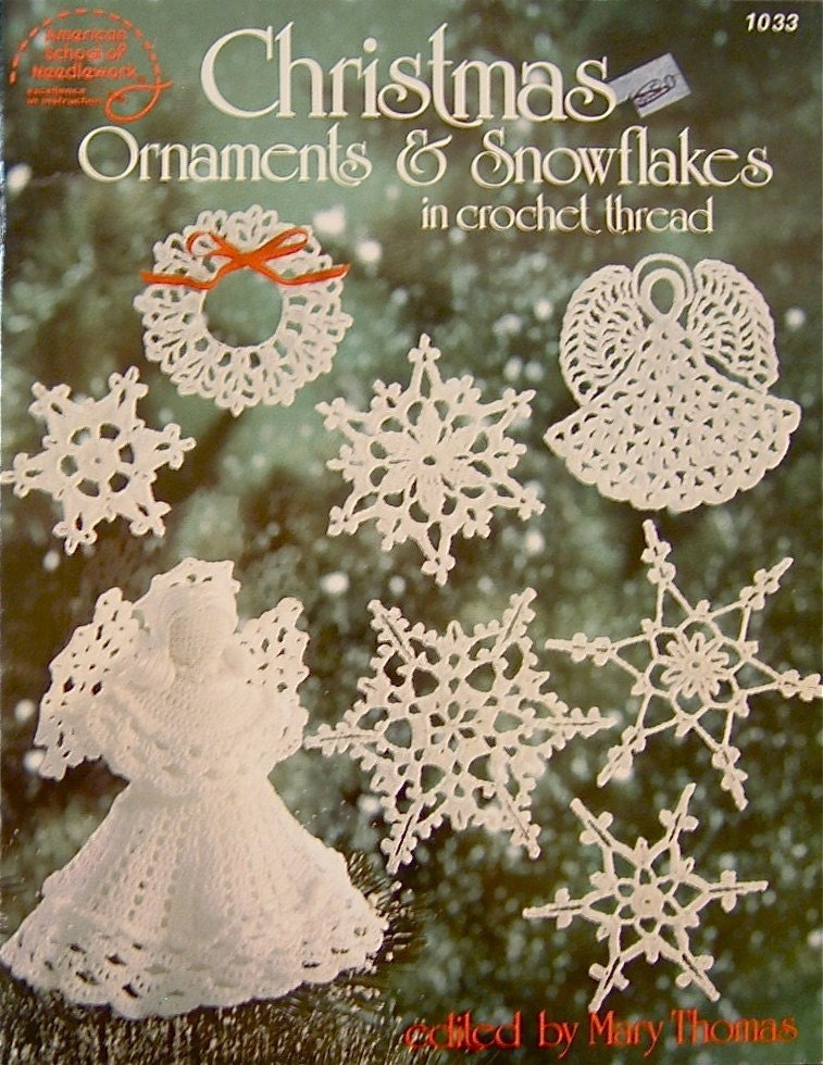 Christmas Ornaments And Snowflakes Crochet Thread Pattern
