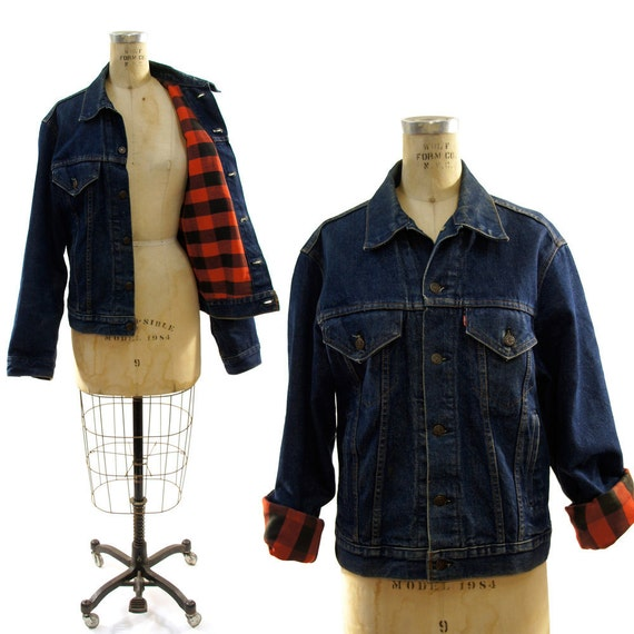 Reserved foe Zoe 80s Levi's Denim Jacket with Buffalo Check Lining