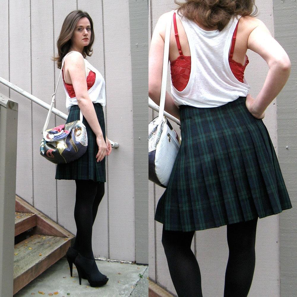 Sale Vintage Schoolgirl Uniform Skirt By Spunkvintage On Etsy