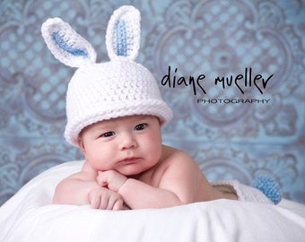 baby boy bunny hat photography prop newborn easter hat spring hatt