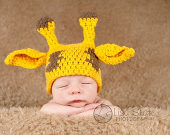 newborn baby giraffe hat photography prop