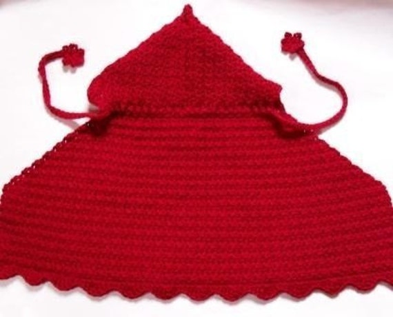 Free Crochet Pattern For Hooded Cape : CAPE WITH HOOD CROCHET PATTERN Crochet Patterns Only