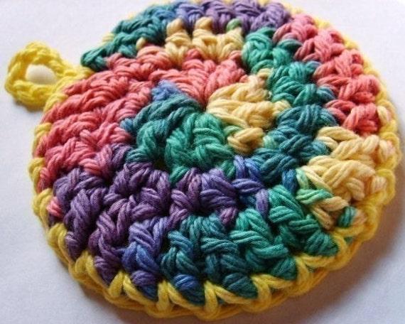 Pdf Crochet Pattern Pots And Pans Scrubbie