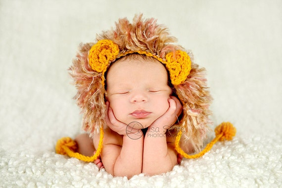 newborn lion mane hat photography prop baby boy hat newborn animal hat baby girl hat baby photography prop baby newborn boutique gift