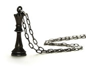 Black Queen Chess Necklace