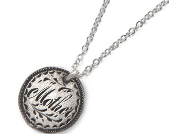 Mother - Sterling Love Token Necklace