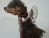 "Mixed media sculpture, ""The Winged Dog"""