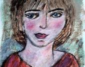 """Original Painting, """"Wondering Through Blue Eyes"""""""