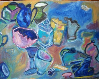 Original painting, The Gentle Conversation of Objects