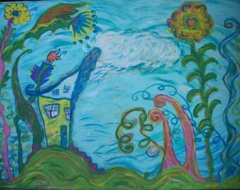 Original painting, The Fairytale Cottage