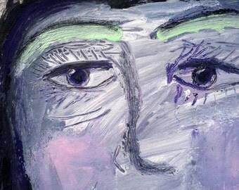 "Original painting, ""Girl in Blue"""