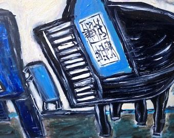 "Original painting, ""The Music of Flowers"""