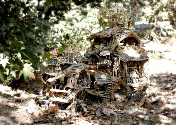 Print, The Fairy Houses in the Forest