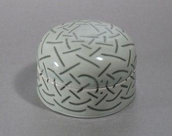 Celadon Treasure Box with Inlaid Celtic Knotwork