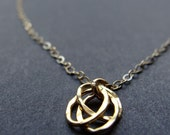 Little Gold Textures Necklace