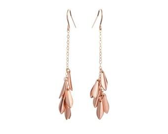 Rose Gold Falling Earrings