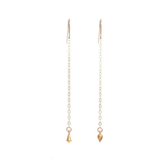 Two Gold Points Earrings