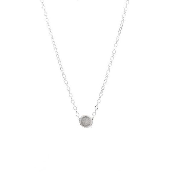 Little Silver Drop Necklace