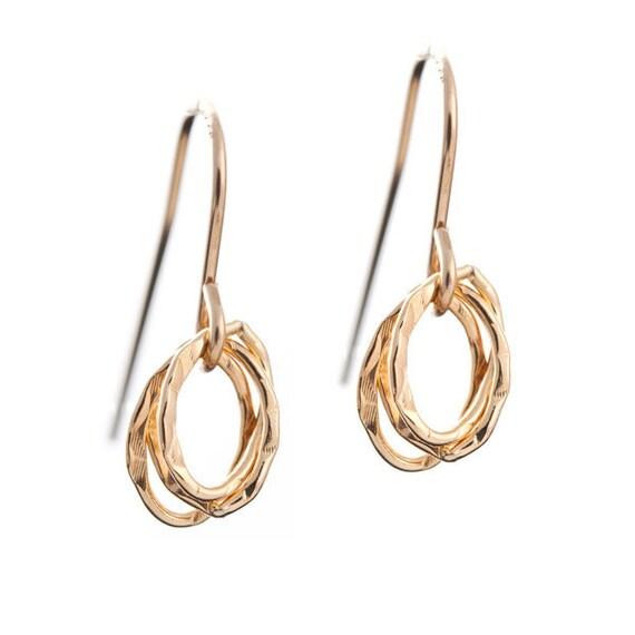 Little Gold Textures Earrings